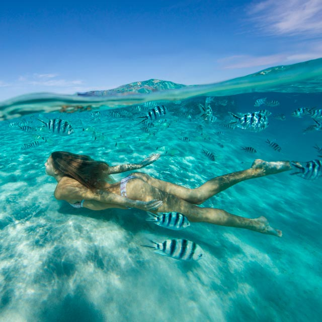 Nadar en las islas cook