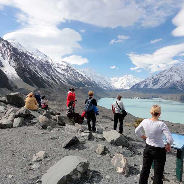 Tour en Tasman Glacier